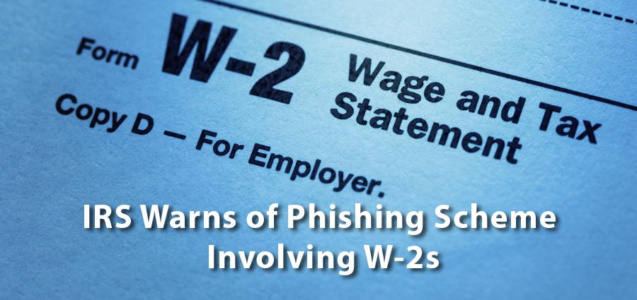 W2 Phishing Scheme