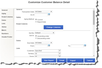 Use QuickBooks Online's customization tools to isolate and display the exact information that you need.