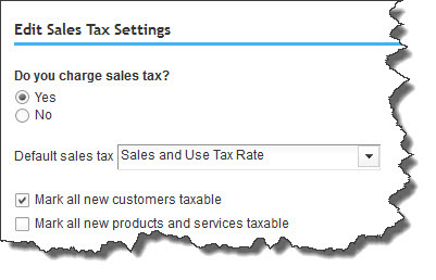 One of the things we'll do as we help you get started with sales taxes is to make sure that your site settings are correct.